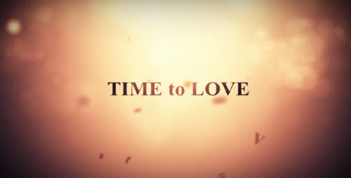 Time to love - After Effect Project